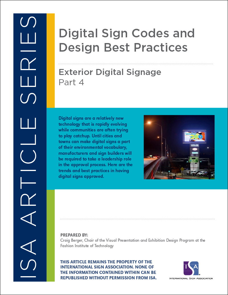 Exterior Digital Signage, Article Series: Part 4 Digital Sign Codes and Design Best Practices