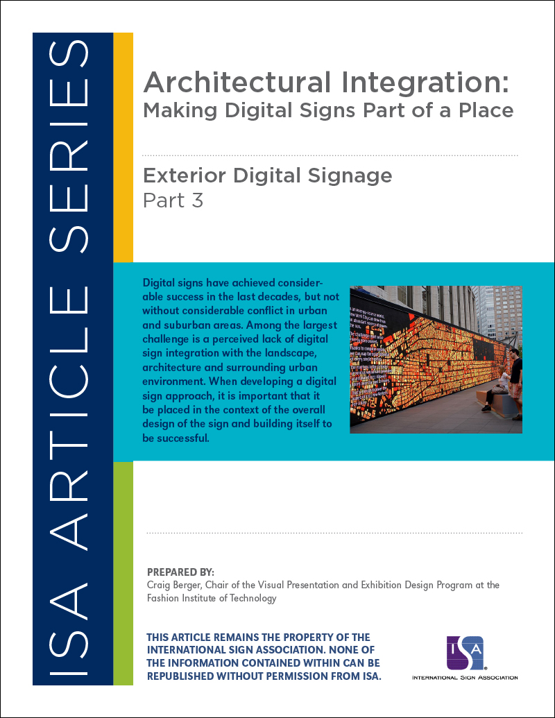 Exterior Digital Signage, Article Series: Part 3