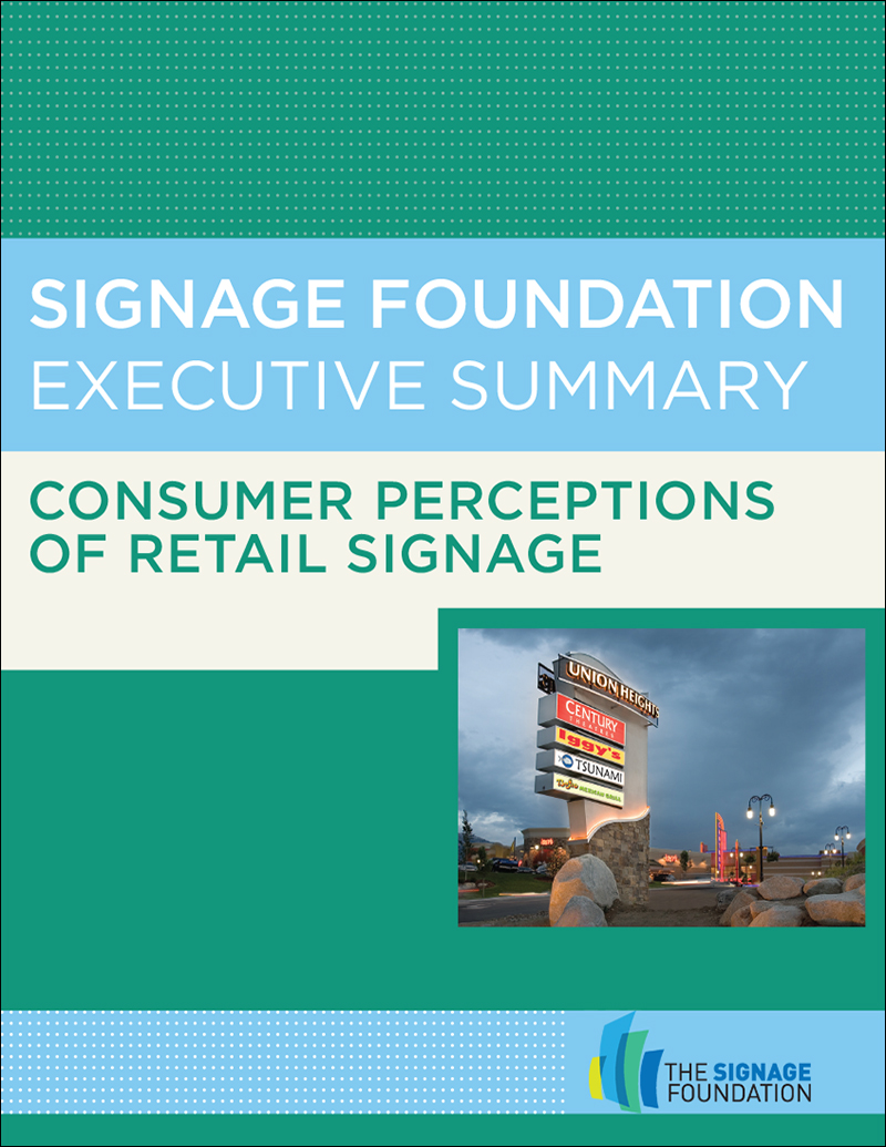 Consumer Perceptions in Retail Signage: 100,000 Shoppers Can't Be Wrong – Executive Summary